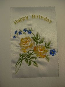 HAPPY BIRTHDAY - Flowers - 2 Roses - Cards